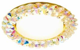 Встраиваемый светильник Ambrella light G206 MULTI/G, золото/мульти