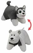 Игрушка-подушка 1 TOY Вывернушка Хаски-Полярный медведь 45,7х55,8 см