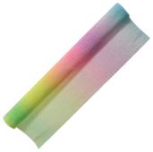 Цветная бумага крепированная градиентная многоцветная в рулоне Радуга FANCY creative Action!, 50х250 см, 1 л.