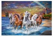 "Рыжий кот Картина по номерам ""Табун лошадей у моря"" 40х50 см (G2888)"