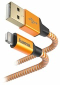 Кабель HAMA USB - Apple Lightning Reflective 1.5 м