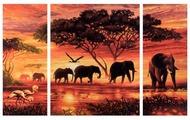 """Schipper Картина по номерам """"Африканские слоны"""" 50х80 см (9260455)"""