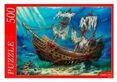 Пазл Рыжий кот Корабль на дне океана (Ф500-8282), 500 дет.