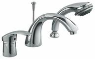 Смеситель для ванны с душем Ledeme H21 L1121 однорычажный встраиваемый лейка в комплекте хром