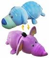 Мягкая игрушка 1 TOY Вывернушка Голубой щенок-Фиолетовый слон 76 см