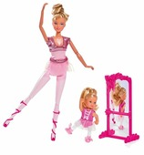 Simba Набор кукол Steffi Love Школа балета Штеффи и Еви, 29 см, 5733038