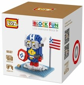 Конструктор LOZ iBlockFun 9537 Миньон Капитан Америка
