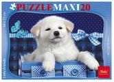 Пазл Hatber Maxi Белый щенок (20ПЗ5_15000), 20 дет.