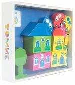 Кубики Томик Цветной городок синий 8688-6