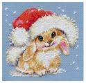 Алиса Набор для вышивания крестиком Зимний зайчишка 12 х 12 см (0-095)