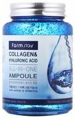 Farmstay All-In-One Collagen & Hyaluronic Acid Ampoule Сыворотка для лица с гиалуроновой кислотой и коллагеном