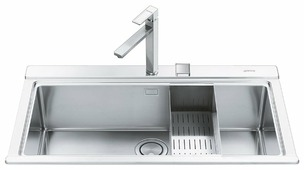 Врезная кухонная мойка smeg VR78 89.7х51см нержавеющая сталь