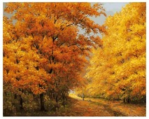 "Белоснежка Картина по номерам ""Осенний день"" 50х40 см (174-AB)"