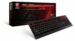 Клавиатура MSI GK-701 GAMING Keyboard, USB