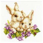 Алиса Набор для вышивания крестиком Крольчата 15 х 16 см (1-11)