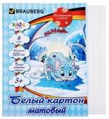 Белый картон Барсик Kids Series BRAUBERG, A4, 8 л.