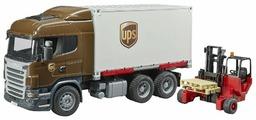 Набор техники Bruder Scania UPS с погрузчиком и паллетами (03-581) 1:16