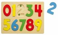 Рамка-вкладыш Viga Цифры (58545), 10 дет.