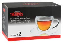 Thermos Набор чашек Double-wall Glass Mug With Dish