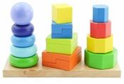 Пирамидка Мир деревянных игрушек 3 в 1