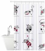 Штора для ванной Tatkraft Funny Cats 14664 180x180