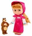 Интерактивная кукла Карапуз, Маша и Медведь, набор c мишкой, 25 см 83034S