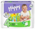 Bella Baby happy подгузники fun 4 (8-18 кг) 12 шт.