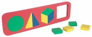 Рамка-вкладыш Бомик Геометрические фигуры (117), 10 дет.