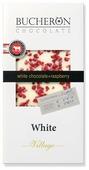 Шоколад Bucheron Village белый с кусочками малины