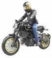 Мотоцикл Bruder Scrambler Ducati Cafe Racer с мотоциклистом (63-050) 1:16 19 см