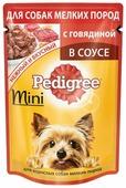 Корм для собак Pedigree Для взрослых собак мелких пород с говядиной в соусе