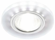 Встраиваемый светильник Ambrella light S214 WH/CH/WH, матовый/хром