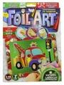 Danko Toys Аппликация цветной фольгой Foil Art по номерам Машинка (FAR-01-04)