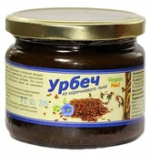 Vegan food Урбеч из семян коричневого льна