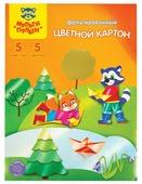 Цветной картон фольгированный Приключения Енота Мульти-Пульти, A4, 5 л., 5 цв.