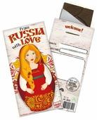 """Шоколад CHOKOCAT """"Из России с любовью. Матрешка"""" темный"""