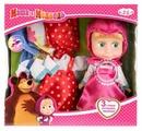 Интерактивная кукла Карапуз Маша и Медведь Маша с дополнительными комплектами одежды, 15 см, 83032X