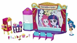My Little Pony Набор с мини-куклой Hasbro Equestria Girls Кинотеатр, 12 см, C0409