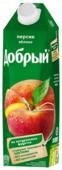 Нектар Добрый Персик-Яблоко, с крышкой