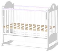 Кроватка Ведрусс Таисия 2 (колесо, с ящиком) (качалка), на полозьях