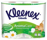 Туалетная бумага Kleenex Нежная ромашка трёхслойная