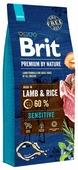 Корм для собак Brit Premium by Nature ягненок