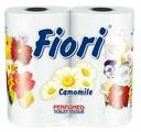 Туалетная бумага Aster Fiori Camomile белая трёхслойная