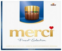 Набор конфет Merci Ассорти из молочного шоколада 250 г