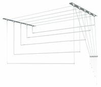 Сушилка для белья Лиана настенно-потолочная металлическая 2,1 м