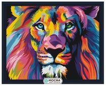 """Мосфа Картина по номерам """"Красочный лев"""" 40х50 см (7С-0124)"""