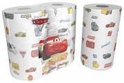 Полотенца бумажные World Cart Cars 3 белые с рисунком трёхслойные