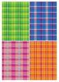 Цветной картон Шотландка Апплика, A4, 4 л., 4 цв.
