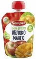 Пюре Semper яблоко и манго (с 6 месяцев) 90 г, 1 шт
