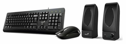 Клавиатура и мышь Genius KMS-U130 Black USB